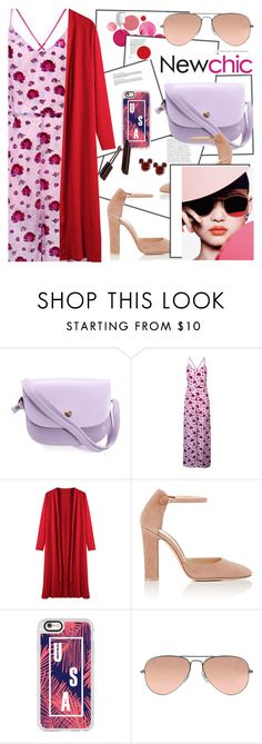 """""""Newchic27: Blush Shades"""" by bugatti-veyron ❤ liked on Polyvore featuring Clinique, Gianvito Rossi, Casetify, Ray-Ban and Disney"""