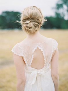 Messy chignon: http://www.stylemepretty.com/australia-weddings/western-australia-au/perth/2015/03/19/intimate-perth-wheatfield-wedding/   Photography: Katie Grant - http://www.katiegrantphoto.com/