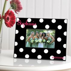 Personalized Polka Dot Picture Frame – Personalized Gifts