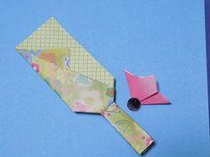 折り紙 お正月 羽子板の羽根 簡単な折り方作り方 - YouTube