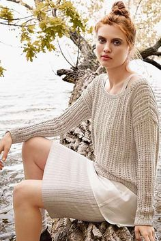 Free Knitting Patterns for Cotton Yarn – Knitting Patterns Toys Free Knitting Patterns For Women, Double Knitting Patterns, Jumper Knitting Pattern, Jumper Patterns, Knitting Yarn, Dress Patterns, Summer Knitting, Cotton Sweater, Grey Sweater