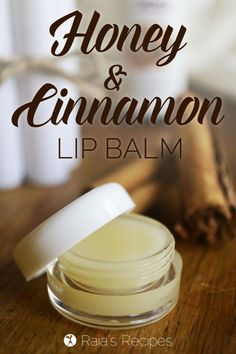 Soaps and scrubs DIY Honey & Cinnamon Lip Balm. With only a few, non-toxic, ingredients, it's an eas Homemade Lip Balm, Diy Lip Balm, Homemade Skin Care, Homemade Beauty Products, Lush Products, Bees Wax Lip Balm, Lip Balm Recipes, Leave In, Diy Scrub