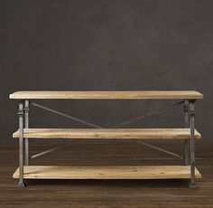 Love this rustic industrial style. Want to make it so I don't have to spend $1300