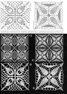 Crochet Lace pineapple Squares