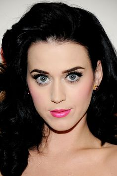"""This face is perfection! The bright pink lipstick and equally bright blush keeps with the vibrant color theme. Katy sang it right - """"California girls, they're undeniable!"""""""