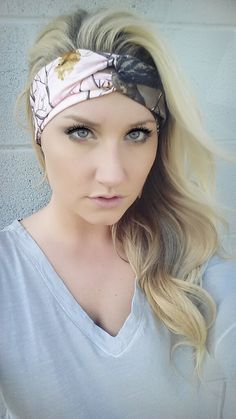 PINK and HUNTER Realtree Camo headband stretch by TheWoodenAntler, $20.00