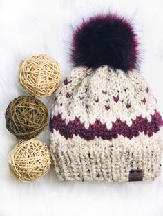 Free Knitting Pattern: Fair Isle 5-Color Beanie Winter Hat – Beccie B Creative Baby Hat Knitting Patterns Free, Fair Isle Knitting Patterns, Easy Sewing Patterns, Bag Patterns To Sew, Easy Knitting, Knitting Yarn, Crochet Patterns, Hat Patterns, Yarn Projects
