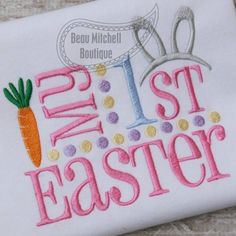 My First Easter Bunny Ears embroidery design - Beau Mitchell Boutique