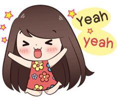 Cute Couple Drawings, Cute Couple Art, Cute Couples, Kawaii Stickers, Cute Stickers, Cute Words, Cute Love Pictures, Cute Love Cartoons, Chibi Girl