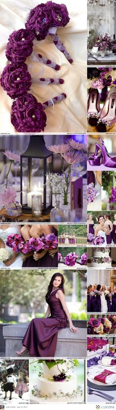Would really love a blush and gold wedding, but I love this deep purple color...