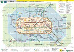 mapa metro y u-bans
