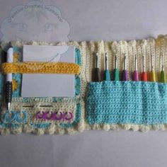 This Granny Square Crochet Booklet ( Crochet Hook Case ) will make an excellent gift for any Crocheter!