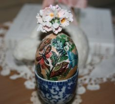How to Blow and Mod Podge Eggs for Easter…