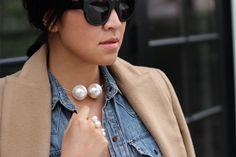 DIY Pearl Choker & Rings