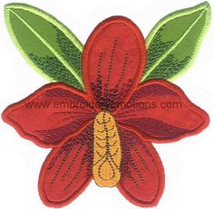 Applique Flower Machine Embroidery Designs