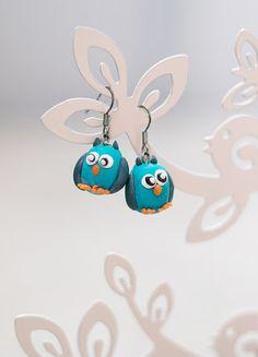 Kupuj mé předměty na #vinted http://www.vinted.cz/doplnky/nausnice/16237553-nausnice-s-modrymi-sovickami-rucne-delane