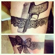 garter gun tattoo - Google Search