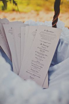 natural kraft rustic wedding program ideas: Rustic Beach to Barn Wedding :: http://www.weddingchicks.com/2013/05/02/rustic-beach-to-barn-wedding/ Photographer: Teale Photography Venue: Dos Pueblos Ranch  Cake: Your Cake Baker Caterer: Country Catering Company Coordinator: Joie De Vivre Wedding & Events Lighting: Vastola Electric Stationery: CherishPaperie.com Flowers: Shelley Schulte & Co
