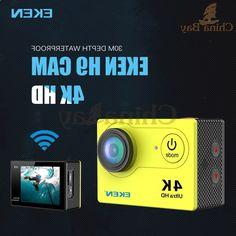 38.33$ Watch here - alitems.com/... - New Arrival!Original Eken H9/H9R Ultra HD 4K Action Camera 30m waterproof 2.0' Screen 1080p sport Camera go extreme pro sj 38.33$