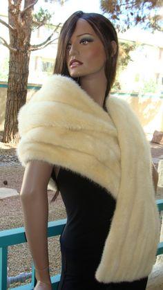 """DIY """"fur"""" shawl idea"""