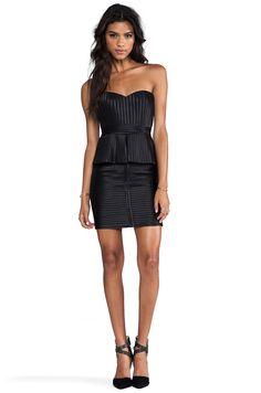 BCBGMAXAZRIA Karina Strapless Dress in Black   REVOLVE