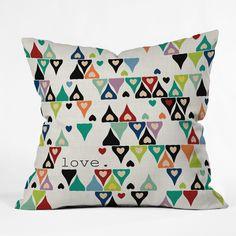 Sharon Turner Love 3 Throw Pillow