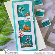 Nautical Cards, Shaker Cards, Card Patterns, Kids Cards, Craft Tutorials, Under The Sea, So Little Time, All The Colors, Your Cards