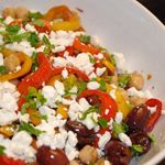 Mediterranean Peppers and Olives Salad Recipe- 5 Points + - LaaLoosh