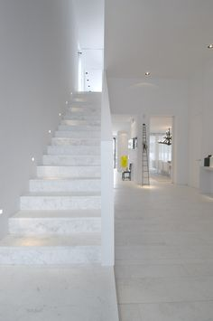 modern architecture - a-cero - sotogrande housing - cádiz - spain - interior view - staircase