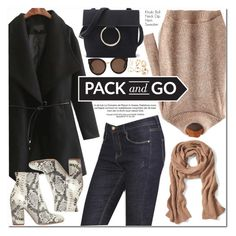 """""""Pack and Go: Winter Getaway"""" by oshint ❤ liked on Polyvore featuring Banana Republic, STELLA McCARTNEY, Strategia, Winter, awesome, cool, romwe and Packandgo"""