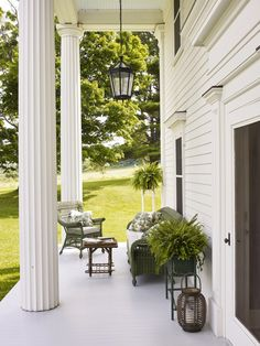 Exterior in Millbrook by Ashley Whittaker Design on Outdoor Rooms, Outdoor Gardens, Outdoor Living, Outdoor Decor, Cafe Design, House Design, New York Homes, Plantation Homes, Houses