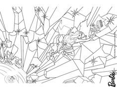 Barbie As Mermaid Climbing The Rocks Coloring Page More Sheets On Hellokids