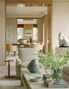 Modern Living Room in New York, NY by Thomas Pheasant Interiors