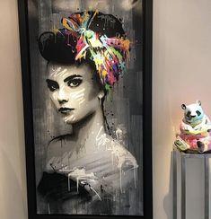 Graffiti Wall Art, Graffiti Painting, Mural Art, Acrylic Portrait Painting, Portrait Art, Painting & Drawing, Pop Art, Graffiti Photography, Geisha Art