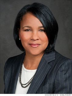 13. Rosalind Brewer  President and CEO, Sam's Club  Wal-Mart Stores  2011 rank: 23  Age: 50  Brewer, who began as a scientist at Kimberly-Clark, became CEO of Wal-Mart's warehouse club (fiscal 2012 revenue: 54 billion) in February after a stint as head of Wal-Mart's eastern division. It is a big promotion: She heads one of only three operating segments, and she reports directly to CEO Mike Duke.
