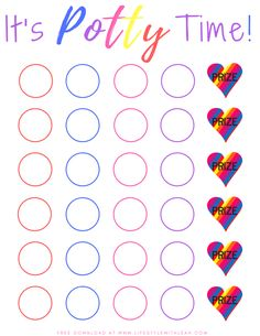 A Free Potty Training Sticker Chart - Print in color or black and white. Make potty training an enjoyable experience. Sticker Chart Printable, Potty Training Sticker Chart, Potty Training Books, Printable Reward Charts, Potty Training Rewards, Toddler Potty Training, Free Printable, Potty Training Charts, Training Tips