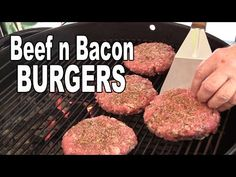 Beef and Bacon 50/50 Burgers recipe - YouTube