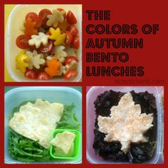 Autumn Bento Lunches #FunFoodFriday