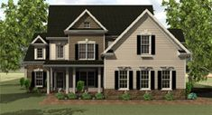 Elevation of Cape Cod   House Plan 54016