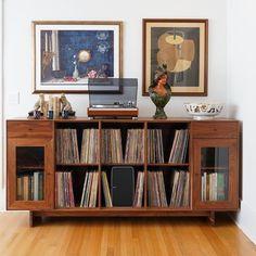 My Living Room, Home And Living, Modern Living, Custom Furniture, Modern Furniture, Room Inspiration, Interior Inspiration, Record Shelf, Deco Retro