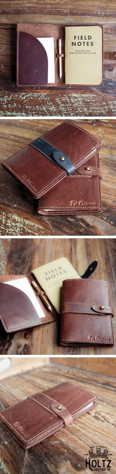 The Surveyor Fine Leather Pocket Journal Cover for Field Notes or Moleskine is handmade right here in our shop with the finest of Full Grain American leathers. We hand pick our leather hides from a local tannery ~ for a rustic look and feel. This is a gift that will be used and loved for a lifetime! Perfect for the executive, professional, father, or dear friend in your life.