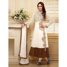 Want to Buy Sathiya Designer Long Anarkali Dress #SemiStichedSUIT-2004, then Souqelkhaleej.com is the best place for you.