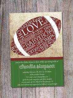 Football Themed Baby Shower Invitation