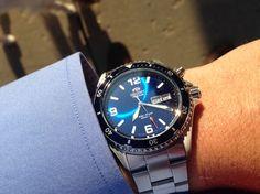 The Blue Mako - www.orientwatchusa.com/em65002d #divewatch #watches