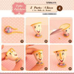 Mrs. Potts and Chip (Beauty and the Beast) #2: Chip - CakesDecor - Cake Decorating TUTORIAL