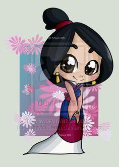 chibi pocahontas | Essa Mulan chibi tá super linda e doce como a Mulan sempre é! Mas eu ...