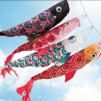 Les Koinobori   , signifiant «banderole de carpe» en japonais, sont des manches à air en forme de carpe koï hissées au Japon pour célébrer Tango no sekku   , évènement...