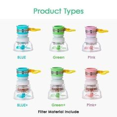 Faucet Booster Filter Pink Blue, Blue Green, Pink Filter, Survival Life Hacks, Diy Rv, Home Fix, Promotion Code, Buy 1 Get 1, High Protein Recipes