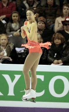 Mao Asada of Japan skates her short program in the women's competition at the 2013 World Figure Skating Championships in London, Ontario, March 14, 2013.