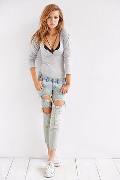 One Teaspoon Freebird Skinny Jean #urbanoutfitters